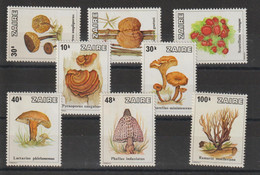 Zaire 1979 Champignons 943-950 8 Val ** MNH - 1971-79: Mint/hinged