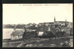 CPA Ile De Batz, L`Église Et Le Sémaphore - Ile-de-Batz
