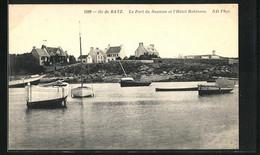 CPA Ile De Batz, Le Port Du Saumon Et L`Hôtel Robinson - Ile-de-Batz