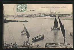 CPA L`Ile De Batz, Vue Du Port Et De L`Église - Ile-de-Batz