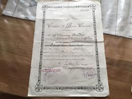 Certificat De Bonne Conduite Artilleur 8° D'artillerie D'Afrique Campagne Du Maroc 1920 - 1939-45