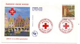 1994 -- FDC  --Croix-Rouge ---Grand-Place D'ARRAS-62   .......cachet  MONTREAL - 1990-1999
