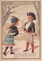 Chromo : Amidon REMY : Amidon Royal Rémy - Louvain : Gaillon - Eure : Illustrateur -  Couple D'enfants - Sonstige