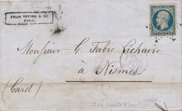 1853 LSC 25 C N° 10 Bleu Hdf TB. - 1852 Louis-Napoleon