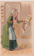 Chromo : Amidon REMY : Amidon Royal Rémy - Louvain : Gaillon - Eure : Illustrateur -  Grand Mère Lisant Son Journal - Sonstige