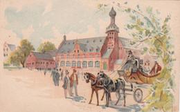 Chromo : Amidon REMY : Amidon Royal Rémy - Louvain : Gaillon - Eure : Illustrateur -  Attelage Place De L'église - Sonstige