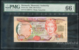 BERMUDAS  100 Dollars 2000 Pick 55a, PMG66 UNC! - Bermudas