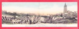 F-17-Saintes-210A116  Carte Double Colorisée, Anciennes Arènes Romaines Et Le Quartier St Eutrope, Cpa BE - Saintes