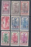 Martinique N° 111 / 119 X Timbres Surchargés : La Série Des  9 Valeurs Trace De Charnière Sinon TB. - Non Classés