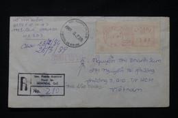 CANADA - Enveloppe En Recommandé De Montréal Pour Le Vietnam En 1989 Avec Taxe Vietnamienne - L 89540 - Cartas