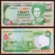 BERMUDAS  20 Dollars 1989 Pick 37a, XF+ - Bermudas