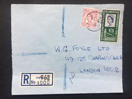 GB 1961 Registered FPO 962 Germany Cover To London - Covers & Documents