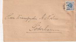 SUEDE 1884 LETTRE POUR SÖDERHAMN - Briefe U. Dokumente