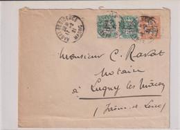 LS-OB- RABAT-RESIDENCE-17/2/1921 POUR LA FRANCE- LUGNY  (Saône Et Loire) - Used Stamps