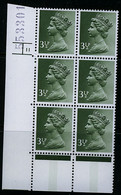 GB Machin 1974 3½p Olive-grey SG X859 Centre-band In Cylinder 11 No Dot Block Of Six MNH Unmounted Mint - Série 'Machin'