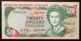 BERMUDAS  20 Dollars 1989 Pick 37a, UNC! - Bermudas