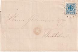 SUEDE 1873 LETTRE POUR STOCKHOLM - Briefe U. Dokumente