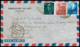 """España - Edi O 1119 + 1152 + 1140 - Carta """"Roquetas 11/6/65"""" A USA - 1961-70 Cartas"""