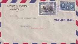 PANAMA 1948   PLI AERIEN POUR LA SUISSE - Panamá
