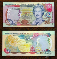 BERMUDAS  50 Dollars 2000 Pick 54a, UNC! - Bermudas