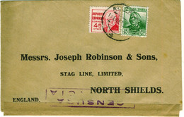 SPAIN 1938? Civil War Censored Cover To UK - 1931-50 Cartas