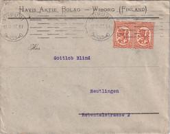 FINLANDE 1927 LETTRE DE WIBORG - Cartas