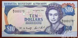 BERMUDAS  10 Dollars 1996 Pick 42, Low Number! UNC! - Bermudas