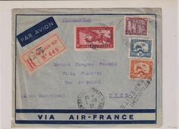 LR Par Avion C à D SAIGON CENTRAL 1/10/1937 Cochinchine/France AFFRANCHIE PAR L'EXP - Airmail