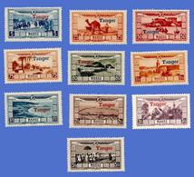 MAROC PA 22 / 31 NEUFS ** AVEC SURCHARGE TANGER - Airmail