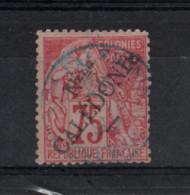 Nouvelle -Calédonie - ( 1892) 75c Rose N°27 - Usados