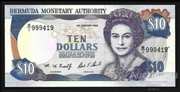 BERMUDAS  10 Dollars 1993 Pick 42, UNC! - Bermudas