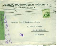 SPAIN Civil War Censored Cover To UK - 1931-50 Cartas
