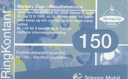 Norway, TEL-MOB-?, RingKontant 150, 2 Scans. - Noruega