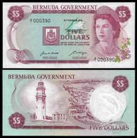 BERMUDAS  5 Dollars 1970  UNC! - Bermudas