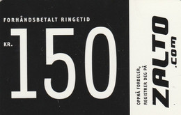 Norway, Zalto.com, Forudbetalt Ringetid, Kr. 150, 2 Scans. - Noruega