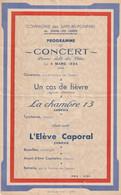 BIANS-les-USIERS (Doubs) - 4 Mars 1934 - Programme Du Concert Donné Par La Cie Des Sapeurs-Pompiers.  Bon état. - Programs