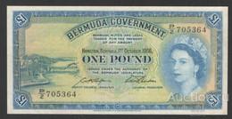 BERMUDAS  1 Pound 1966, P-20d  XF - Bermudas