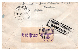Enveloppe De 1943 Barcelone Cachet Allemand - Non Classés