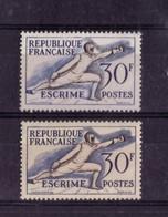 N° 962 VARIETE DE COULEUR ( Fond Blanc Et Fond Jaunatre)  NEUF** - Curiosités: 1950-59 Neufs