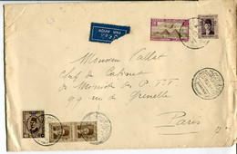 Egitto (1938) - Aerogramma Per La Francia - Briefe U. Dokumente