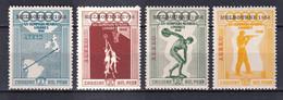 PEROU - JEUX OLYMPIQUES - 1956  - AERIENS YVERT N°116/119 * MLH - COTE = 27 EUR. - Perú