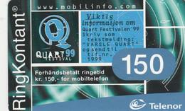 Norway, TEL-MOB-013, Quart 99, 2 Scans. - Noruega