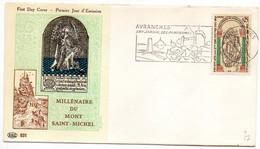 1966 -- FDC -- Millénaire Du Mont Saint Michel.......cachet Et Flamme  AVRANCHES - 50 - 1960-1969