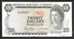 BERMUDAS  20 Dollars 1986,  P-31d VF RARE! - Bermudas
