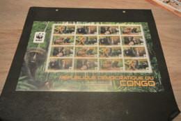 GR116a- Sheet MNH Congo   - WWF - 2012- Owl-facved Monkey     - Non-normalised Shipment - Nuevos