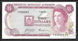 BERMUDAS  5 Dollars 1978,  P-29a VF-XF RARE! - Bermudas