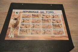 GR117- Sheet MNH Tchad - Chad - WWF - 2012- Addax     - Non-normalised Shipment - Nuevos
