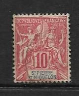 SAINT-PIERRE ET MIQUELON 1900/08   YVERT N°73  OBLITERE - Used Stamps