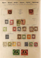 """EUROPE - IMPRESSIVE OLD TIME COLLECTION 1840-1930s. An Impressive MINT & USED COLLECTION Presented In A Lovely Old """"SCH - Zonder Classificatie"""