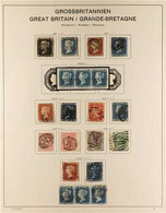 GREAT BRITAIN 1841 - 1926 USED COLLECTION Including 1840 1d Intense Black (3 Margin, Repaired), 1d Blue (good 4 Margin), - Zonder Classificatie